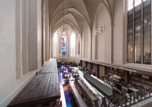 Restaurant in het koor van de Broerenkerk in Zwolle. Foto: Joop van Putten