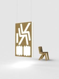 Alexander Pelikan, Clic chair met bamboeplaat.