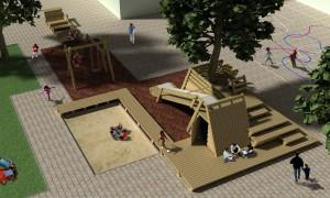 It takes tree, schoolplein voor een scholencombinatie in Bergschenhoek. Het speelobject fungeert als spil op het schoolplein en heeft per zijde een andere functie. Kinderen worden uitgedaagd het object op hun eigen manier te gebruiken. De heldere geometrie verbindt al die functies in één sterk object.
