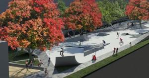 Skatepark Westblaak, ongevraagd advies aan gemeente Rotterdam, i.s.m. Tijs Niessen (architectuurstudent) en Matthew Skjonsberg (landschapsarchitect), beiden ook skaters.