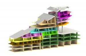 Huisvestingstypologieën zijn reeds in de stadion segmenten geïncorporeerd.