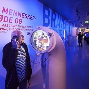 Het museale concept en tentoonstellingsontwerp voor het nieuwe Deense Maritiem Museum in Helsingør is van de hand van Kossmann.dejong. Het gehele gebouw ligt onder het maaiveld, rondom een oud droogdok. Het museum is ontworpen door BIG. Foto: Thijs Wolzak