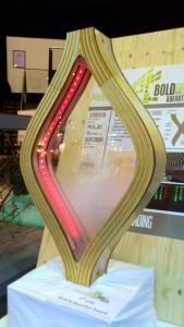 De derde prijs ging in 2012 naar Particle Shading, een zonwering met rook en ledverlichting, ontworpen door Christopher Koster en Marius Otte.