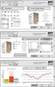 7. Mogelijke gebruikersinterface voor toekomstige software, voor het maken van een herontwerp van een bestaand woongebouw.