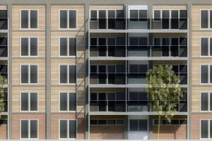 8. Gevel van het nieuw ontwerp voor de flat aan de Marco Pololaan.