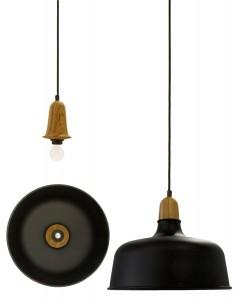 De Wedgelamp bestaat uit een universele wig die lampenkappen van verschillende formaten kan vastklemmen. De aluminium kap en het houten armatuur zijn volledig handgedraaid.