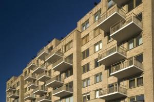 De balkons van blok 1. Foto: Sanne van Bekkum