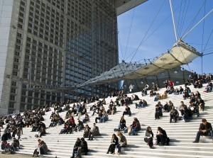 La Grande Arche in Parijs is sinds al sinds 1989 een geliefde verblijfsplaats, architecten Johan Otto von Spreckelsen, Paul Andreu.
