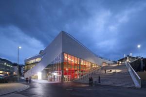 Cultureel Centrum Molde in Plassen, Noorwegen, ontwerp 3XN, 2012