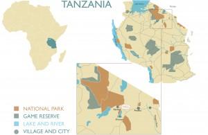 Ligging van het World Elephant Centre in Tanzania.
