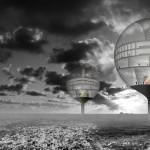 Second sun, prijsvraagontwerp 2013 i.s.m. Ramon Scharff. Ontwerp voor een Afval Energie Gevangenis in de plastic soep in de Stille Oceaan