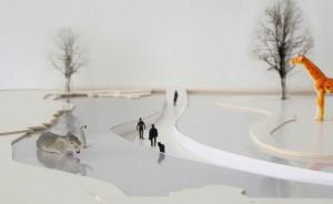 Olifantenbrug Artis Amsterdam. Ontwerp i.s.m. landschapsarchitect Ulrike Centmayer, de bouw start in 2016.