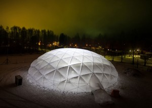 Pykrete Dome-TU/e. Foto: David Perskens