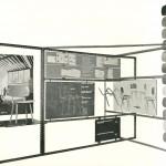Op de tentoonstelling van industriële vormgeving in het Stedelijk Museum te Amsterdam in 1956 werd de Revolt stoel als voorbeeld gesteld van een goed, tot in details bestudeerd oorspronkelijk Nederlands product. Bron: Folder Ahrend