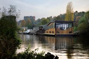 De watervilla is de laatste in een reeks gevarieerde waterwoningen