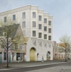 Lakenhal Leiden uitbreiding aan de Lammermarkt