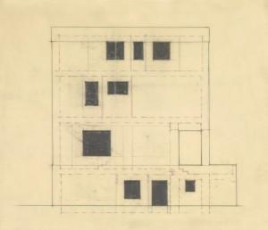 Adolf Loos gevelontwerp 1922 huis Josef en Marie Rufer Wenen