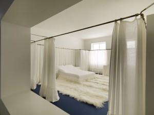 Adolf Loos, slaapkamer in het appartement van Lina en Adolf Loos in Wenen (reconstructie)