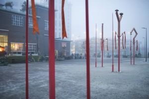 7. BELLEN is een installatie op het Strijp-S terrein in Eindhoven