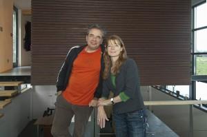Het Groene Strand, winnaar van de verkiezing 'woonboot 2014'. Eigenaars Jeroen Becking en Sandra van Dijk.