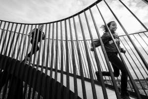 Nederland, Utrecht, 5 okt 2014 Het Observatorium van Lucas Lenglet. Uitkijktoren in het Maximapark in vinexwijk Leidsche Rijn. De toren is gemaakt van staal dat inmiddels bruin geroest is. Via schuin omhoog en omlaag lopende paden kom je boven in de toren.  Foto: (c) Michiel Wijnbergh