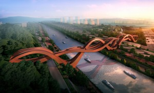 Lucky Knot-bridge, Changsha, China. Ontwerp: NEXT architects. Oplevering: eind 2015.