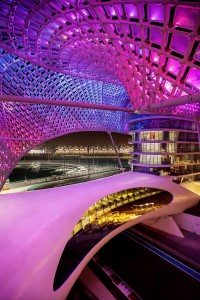 Yas Marina Hotel, Abu Dhabi. Arup i.s.m. Asymptote Architecture, New York City, USA.