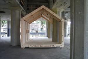 Prototype van het WikiHouse in de Leidse Meelfabriek.