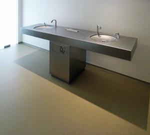 Voorruimte bij toiletten in de Hermitage Amsterdam.