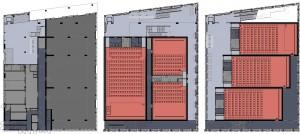Plattegronden begane grond, eerste en tweede verdieping