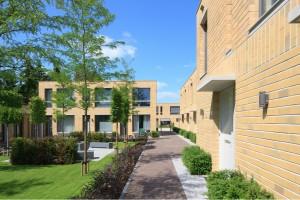 Appartementengebouw Beethovenlaan, Den Bosch door Hilberink Bosch architecten. De gevels van de gebouwen zijn strikt opgezet volgens een getallenreeks ontleend aan het plastisch getal. Foto: René de Wit.