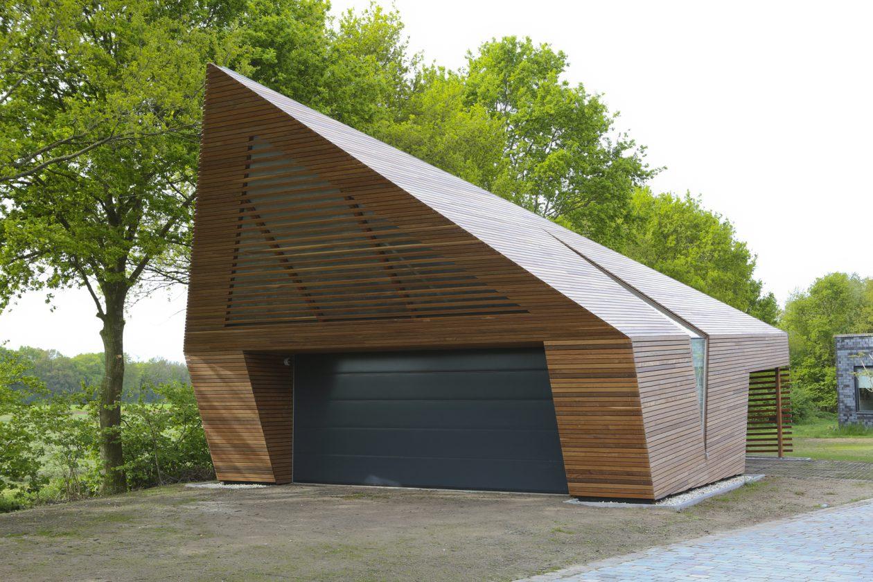 Garage Van Ipe Hout Architectuur