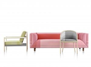 Herman Miller heeft kantoorstoelen bekleed met stoffen van Scholten & Baijings.