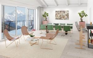 Een strak-modernistische meubelcollectie die Otto Kolb in de jaren '50 ontwierp, is door zijn kleindochter aangepast aan de moderne tijd.