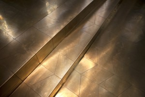 Messing vloer in koor Sint Janskerk Gouda