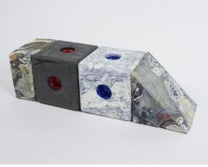 Wasted plastic omgevormd tot multifunctioneel blok