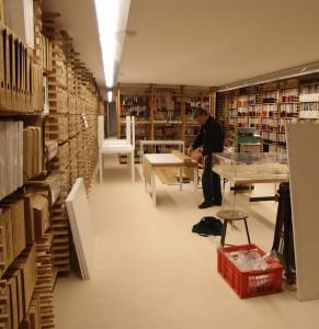 Souterrain met het archief van bureau Ruijssenaars. Foto: Jacqueline Knudsen
