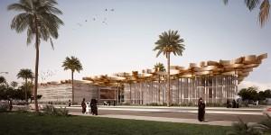 Besloten prijsvraagontwerp voor de gebouwen van de faculteiten van Rechten en Educatie, binnen het masterplan van het Office for Metropolitan Architecture voor de Universiteit in Doha, Qatar