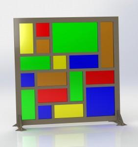Glas in lood panelen met zonnecellen