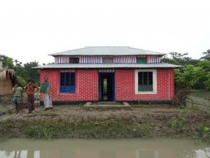 1. Transitional shelters, self built, Bangladesh.