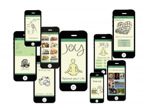 Joyapp. Om burn-outs onder studenten te voorkomen, ontwikkelden studenten een app die helpt bij het vinden van geluksmomenten