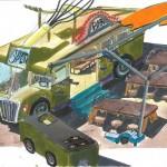 Wijkoken, bus met mobiele keuken