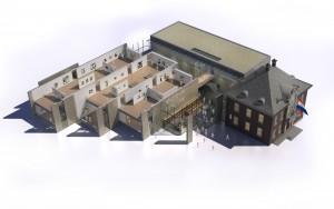 Museum MORE Gorssel - opzet met vier nieuwe volumes rond een vide - Hans van Heeswijk Architects