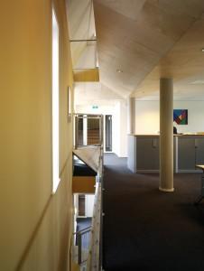 Palissade Gorkum, vide versterkt onderscheid achterhuis (links) en nieuwbouw rechts