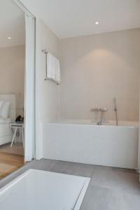Badkamer in het vesper Hotel in Noordwijk
