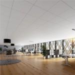 Witste plafondpaneel van Rockfon Blaka