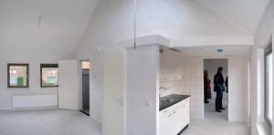 Starterswoning op de verdieping. • Foto Vissers & Roelands.