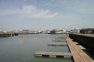 Uitzicht op de Scheveningse haven.