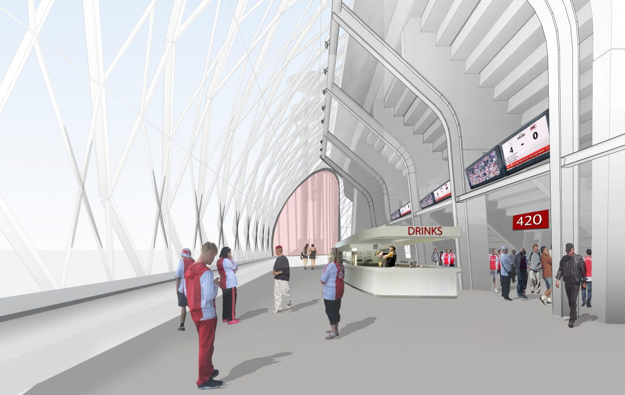 Amsterdam arena van hol naar bol for Interieur u arena