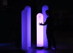 Lunar, lichtsculpturen voor het Cultureel Kwartier in Assen, 2010, Daan Roosegaarde